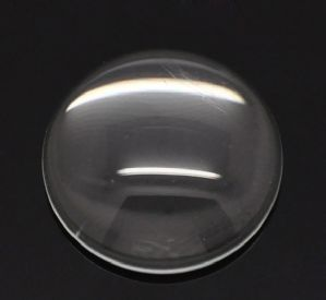 10 Clear Round Glass Dome Seals 18mm for Cabochon